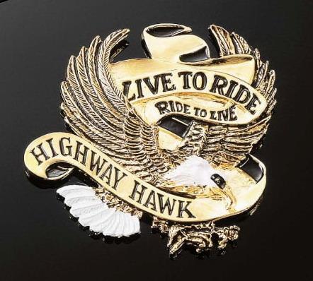 HIGHWAY HAWK 01-561 AMBLEM LIVE TO RIDE BÜYÜK