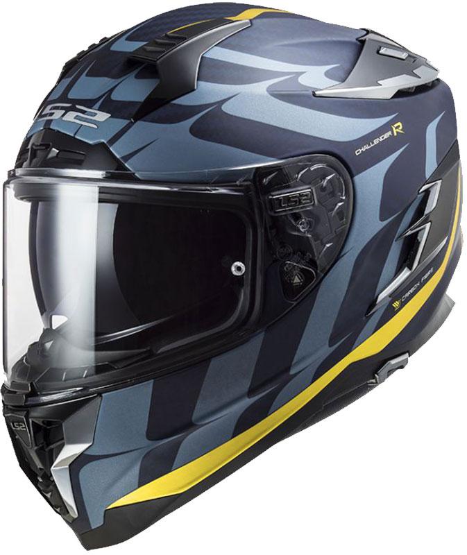 Ls2 Challanger C Flames Karbon Full Face Motosiklet Kaskı