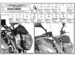 KAPPA A167AK SUZUKI GSR 600 (06-07) RÜZGAR SİPERLİK BAĞLANTISI