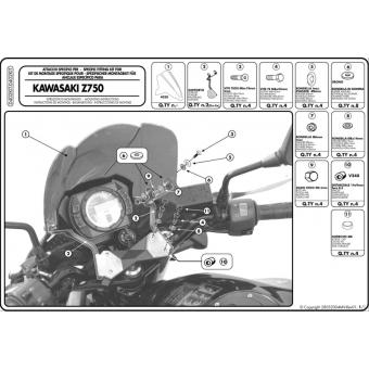 KAPPA D402KIT KAWASAKI Z 750 (04-06) RÜZGAR SIPERLIK BAGLANTISI