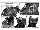 KAPPA KZ448 KAWASAKI Z 750 - Z 1000 (07-13) ARKA ÇANTA TAŞIYICI