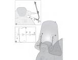 GIVI A5606A PIAGGIO BEVERLY 125-300-350 (10-17) - MEDLEY 125-150 (16-17) RÜZGAR SIPERLIK BAGLANTISI