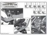 GIVI 4106FZ KAWASAKI ZZR 1400 (12-16) ARKA ÇANTA TASIYICI