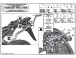 GIVI 4106FZ KAWASAKI ZZR 1400 (12-17) ARKA ÇANTA TASIYICI