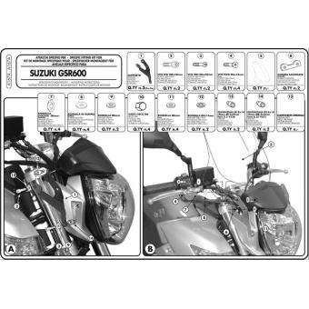 GIVI A167A SUZUKI GSR 600 (06-07) RÜZGAR SİPERLİK BAĞLANTISI
