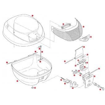 GIVI Z310 ÇANTA ALT TABLA KILIT SACI E42-E26-E300-E30-E33-E280-E260