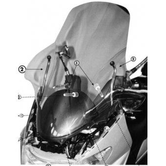 GIVI D156KIT SUZUKI BURGMAN AN 250-400 (98-02) RÜZGAR SIPERLIK BAGLANTISI