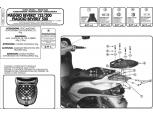 GIVI E341 PIAGGIO BEVERLY 125-200-250-500 (03-04) ARKA ÇANTA TAŞIYICI
