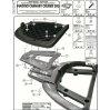 GIVI E348 PIAGGIO CARNABY CRUISER 300 (09-12) ARKA ÇANTA TASIYICI
