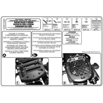 GIVI E528M SUZUKI DL 650-1000 V-STROM (02-11) - KAWASAKI KLV 1000 (04-10) ARKA ÇANTA TASIYICI