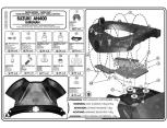 KAPPA KZ539 SUZUKI GSF 650-1200-1250 - GSX 650-1250 (05-15) ARKA ÇANTA TASIYICI