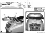 GIVI SR105 PIAGGIO VESPA LX - S 50-125-150 (05-14) ARKA ÇANTA TAŞIYICI
