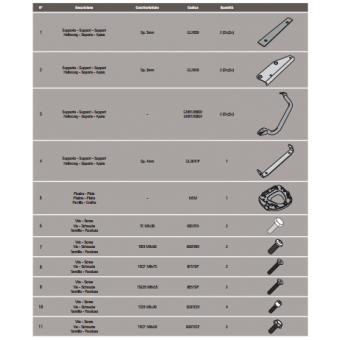 GIVI SR3105M SUZUKI DL 1000 V-STROM (14-16) ARKA ÇANTA TAŞIYICI