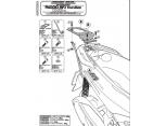 KAPPA KR102 PIAGGIO X8 125-150-200-250-400 (04-10) X-EVO 125-250-400 (07-11) ARKA ÇANTA TASIYICI