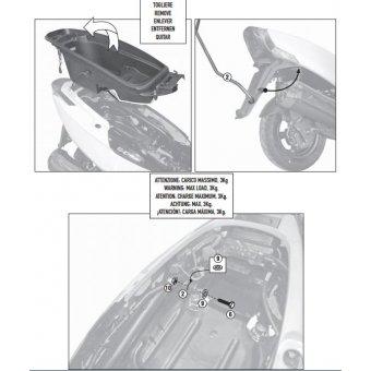 GIVI SR6101 KYMCO G-DINK 125-300 (12-16) ARKA ÇANTA TASIYICI