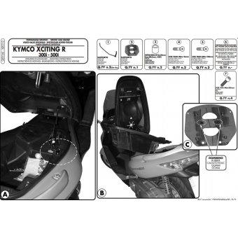 GIVI SR91M KYMCO XCITING R 300I-500I (09-14) ARKA ÇANTA TASIYICI