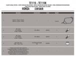 GIVI TE1107 HONDA HORNET 600 - 600ABS (07-10) YAN KUMAS ÇANTA TASIYICI