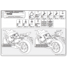 GIVI PLX1102 HONDA CBR 600F - HORNET CB 600 (11-13) YAN ÇANTA TAŞIYICI