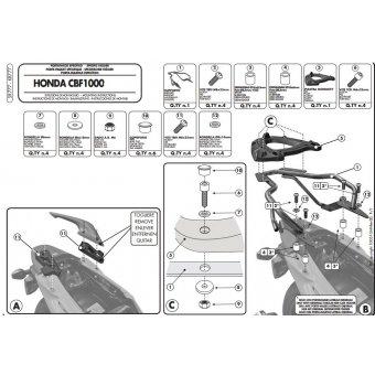 GIVI SR777 HONDA CBF 1000 - CBF 1000ST (10-14) ARKA ÇANTA TASIYICI