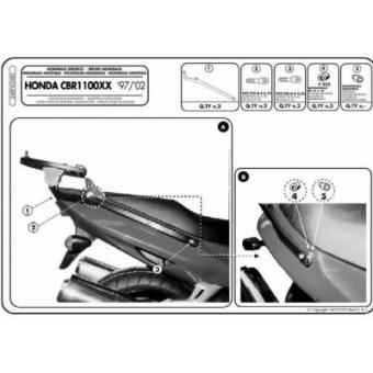 KAPPA K2480 HONDA CBR1100XX (97-09) ARKA ÇANTA TASIYICI