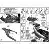 KAPPA KR2320 SYM JOYMAX (05-11) - GTS 250 (02-11) ARKA ÇANTA TAŞIYICI