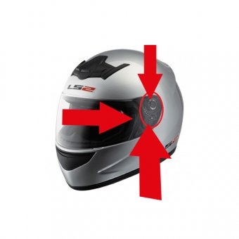 LS2 FF350 CARTOON KASK YAN KAPAK SET