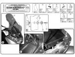GIVI D267KIT SUZUKI BURGMAN 125-200 ABS (14-21) RÜZGAR SİPERLİK BAĞLANTI